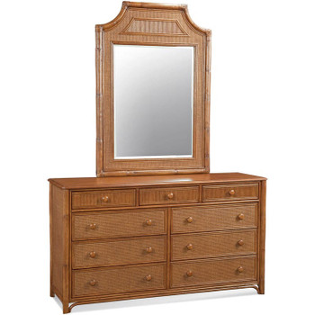 Summer Retreat Nine Drawer Dresser with Mirror