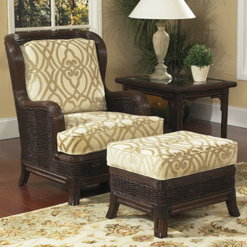 Windsor High Back Lounge Chair and Ottoman