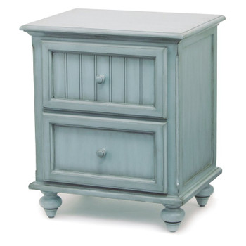 Monaco Nightstand in distressed Bleu finish