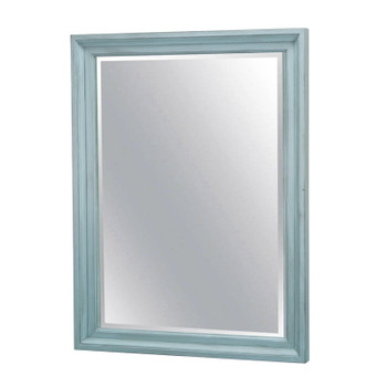 Monaco Mirror in a distressed bleu finish