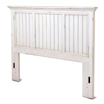 Monaco Twin Headboard in a distressed blanc finish