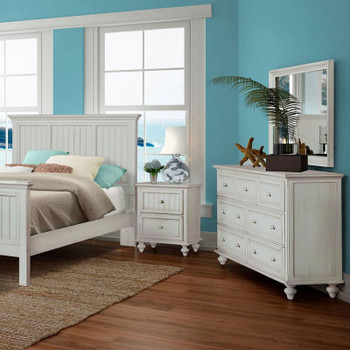 Monaco 4 pc. Bedroom Set in a blanc finish