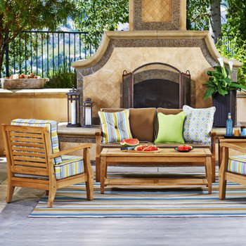 The Laguna Outdoor Seating Collection is both beautiful and functional.