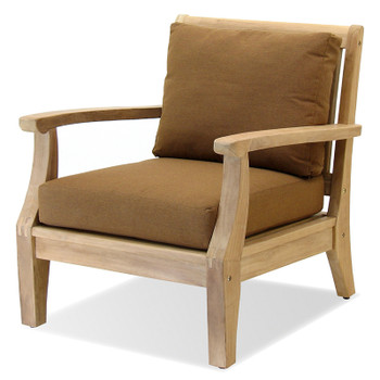 The Laguna Outdoor Chair is made from plantation teak.