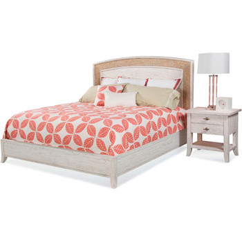 Fairwind Arched Seagrass Complete Bed with  Nightstand