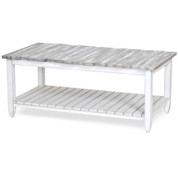 Picket Fence Coffee Table in Distressed Grey/Blanc finish