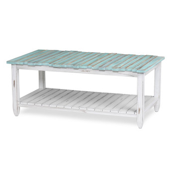 Picket Fence Coffee Table in Distressed Bleu/White finish
