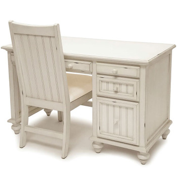 Monaco White Desk & Chair Set