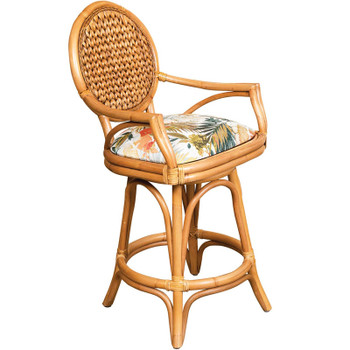 Bahama Swivel Counterstool in Antique Honey finish