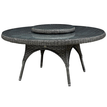 "Lorca Outdoor 67"" Table with Lazy Susan"