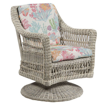 Paddock Outdoor Dining Swivel Rocker - Seas Fiesta Fabric