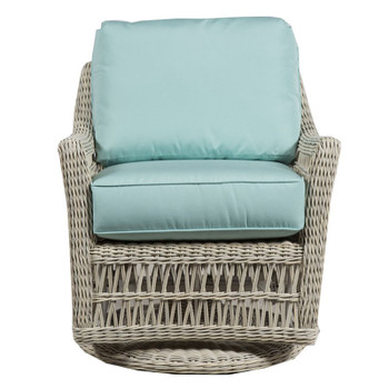 Paddock Outdoor Swivel Glider - Canvas Glacier Fabric -front