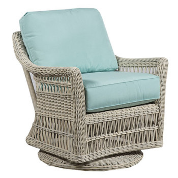 Paddock Outdoor Swivel Glider - Canvas Glacier Fabric