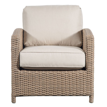 Lodge Outdoor Chair - Fife Ecru Fabric - front