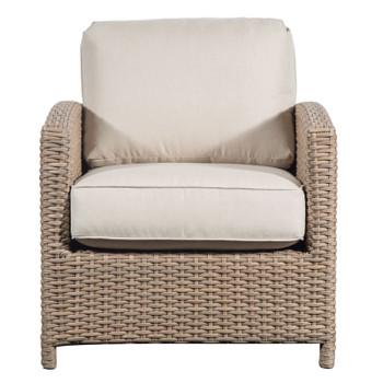 Lodge Outdoor Chair - Fife Ecru Fabric - front