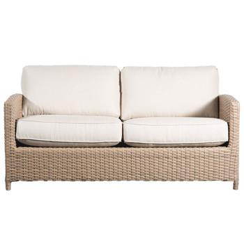 Lodge Outdoor Full Sofa - Fife Ecru Fabric - front