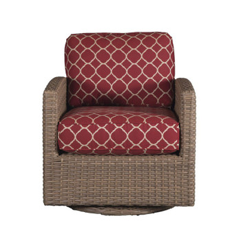Lodge Outdoor Swivel Glider - Accord Crimson Fabric - front