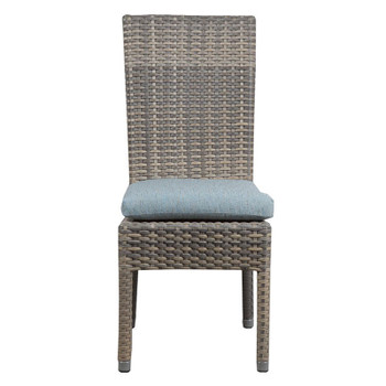 Mambo Outdoor Center Matched Dining Chair - Adena Azure Fabric - front