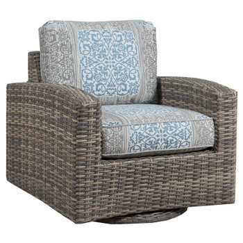 Mambo Outdoor Swivel Glider - Enzo Grey Fabric