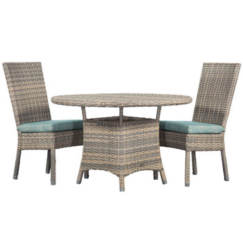 Mambo Outdoor 3 piece Dining Set with Dining Chairs