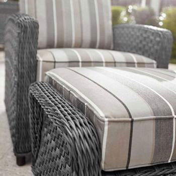 Lorca Outdoor 2pc Chair and Ottoman