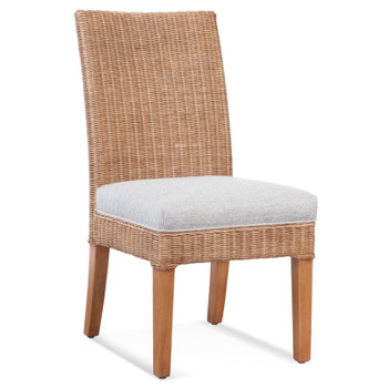 Farmhouse Dining Side Chair in fabric '0358-88 A' and Honey finish