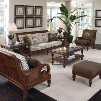 Grand View 7 piece Seating Set in Vintage finish