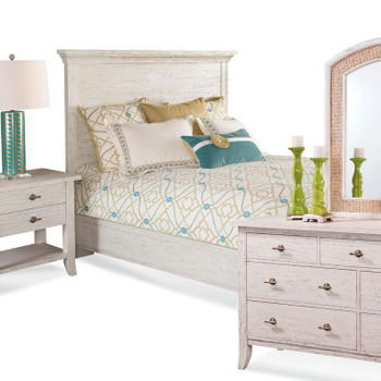 Fairwind 4 piece Panel Bedroom Set with Complete Bed
