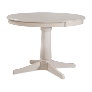 "Hues 42"" Round Dining Table in Cottage White finish"
