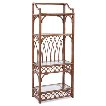 Edgewater Etagere in Havana finish