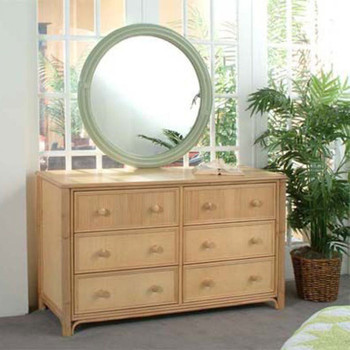 Summer Retreat Twelve Drawer Dresser with mirror