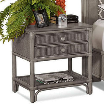 Summer Retreat Two Drawer Nightstand in Greystone finish