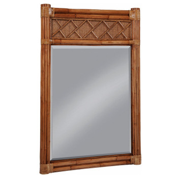 Summer Retreat Chippendale Vertical Mirror in Honey finish