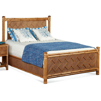 Summer Retreat Chippendale Complete Bed in Havana Finish