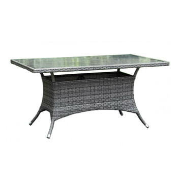 "Spectrum Outdoor 36"" x 60"" Rectangular Dining Table with Glass"