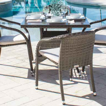 Spectrum Outdoor 5 peace Dining Set with Stackable Side Chairs