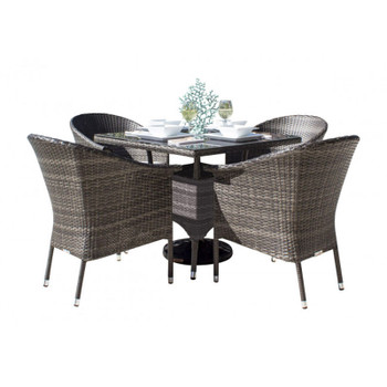 Spectrum Outdoor 5 peace Dining Set with Arm Chairs