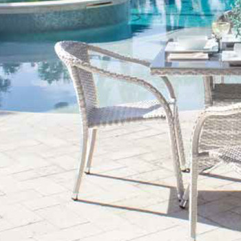 Santorini Outdoor Stackable Woven Side chair