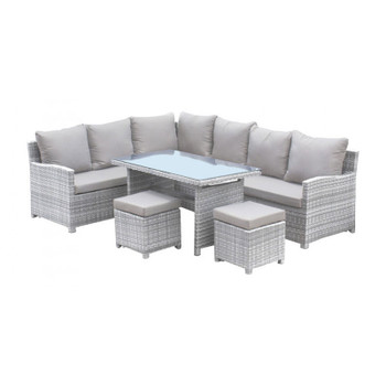 Santorini 5 piece Outdoor Sectional Dining Set