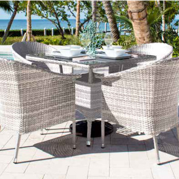 Santorini Outdoor 5 pc Dining Set with Arm Chairs