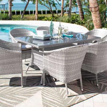Santorini Outdoor 7 pc Rectangular Dining Set