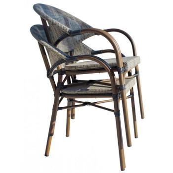 Valdosta Outdoor Stackable Bamboo Look Chairs