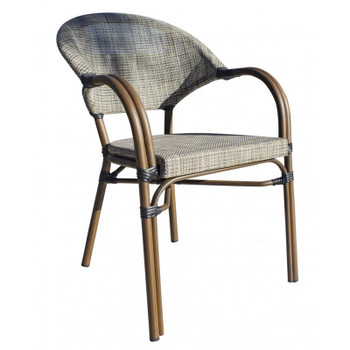Valdosta Outdoor Stackable Bamboo Look Chair