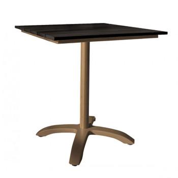 "Valdosta Outdoor 28"" Slatted Artificial Wood Table"