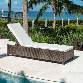 Samoa Outdoor Chaise Lounge with cushion