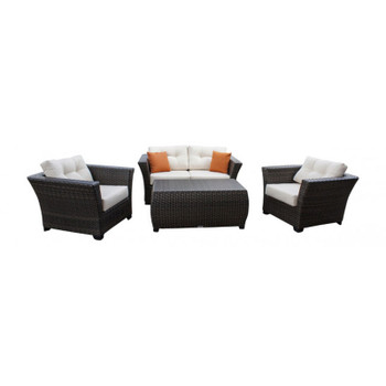 Samoa 4 piece Outdoor Seating Set