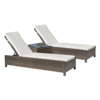 Samoa Outdoor 3 pc. Chaise Lounge with cushion