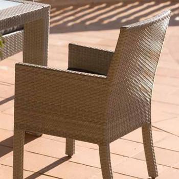 Cubix Outdoor Dining Stackable Armchair