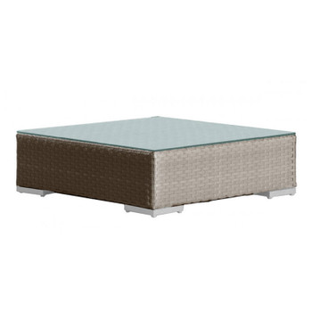 Cubix Outdoor Coffee Table with Glass
