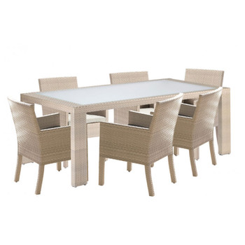 Cubix Outdoor 7 piece  ArmChair Dining Set